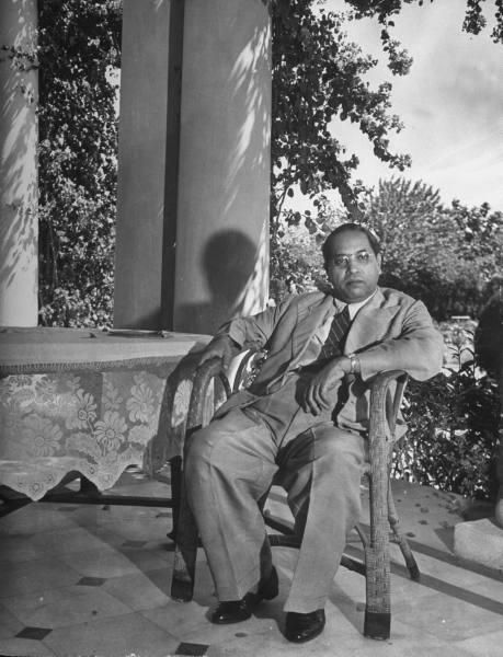 1946 :: Dr. Bhimrao Ambedkar at his Delhi Home ( Photo by Margaret Bourke-White )