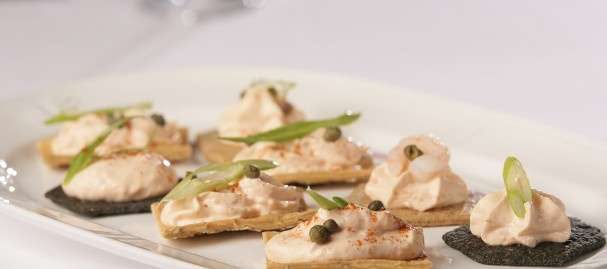 Smoked salmon mousse canapes fish is the dish r e c for Salmon mousse canape