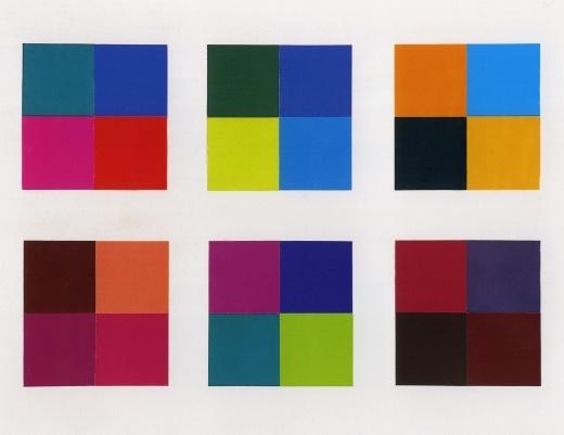 Gerhard Richter, Champs de couleur 1973, 51.7 cm x 66.7 cm Planche d'Atlas: 291. http://www.gerhard-richter.com/art/atlas/atlas.php?paintid=11871