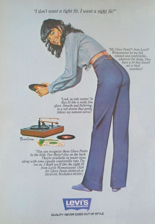Levi's Glove Pants, 1979.