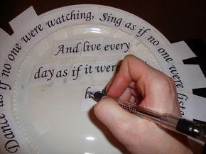 Writing on plates