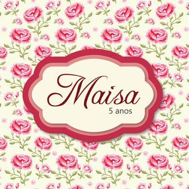 Convite Personalizado Floral - Rosa e Branco