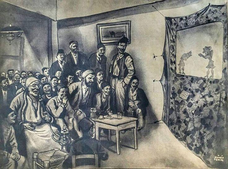 Osmanlı Döneminde perde oyunu... #OsmanlıDevleti