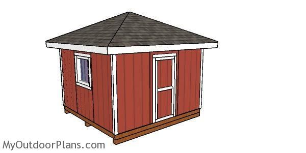 12 12 Hip Roof Shed Free Diy Plans Hip Roof Diy Shed Woodworking Plans Free