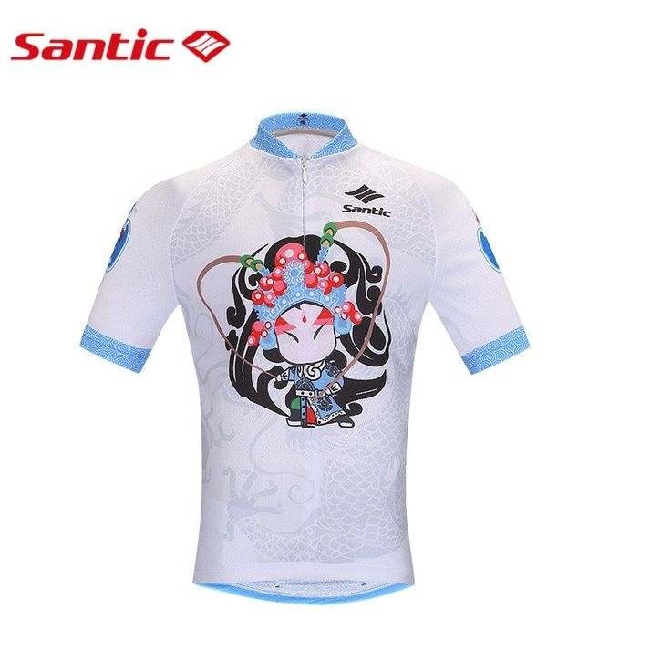 (28.66$)  Know more  - Santic Peking Opera Cycling Jerseys PRO Boyl Cycling Clothes Breathable MTB  Tops Maillot Cyclisme K0602097 K0602096