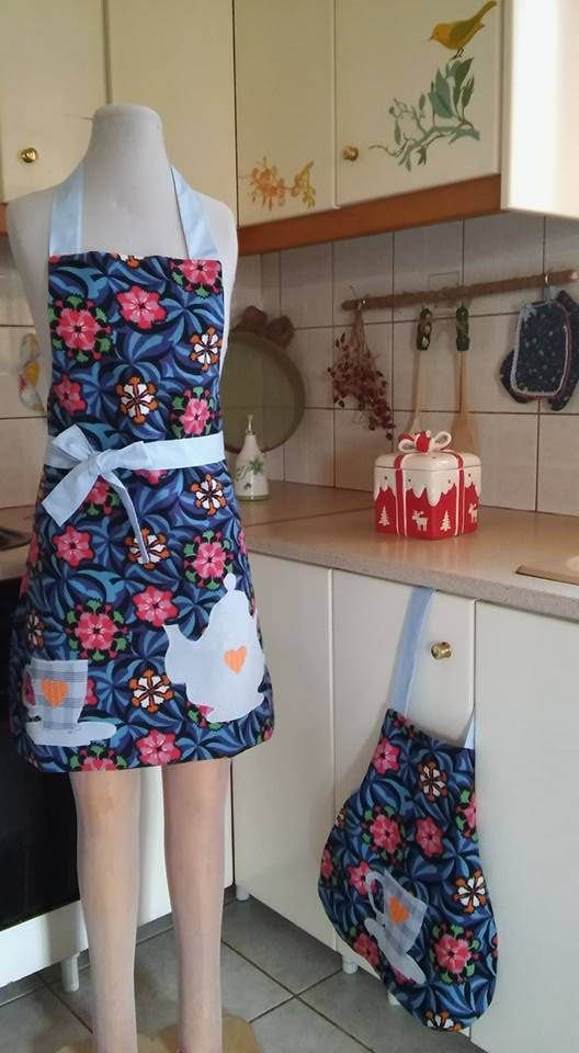 Handmade appron for mother and daughter by UNIQUEbyArtemis on Etsy