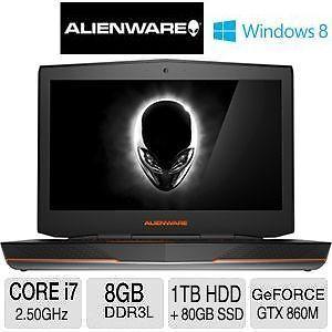 Alienware 18.4 Quad Core i7 GeFore GTX 860M Laptop