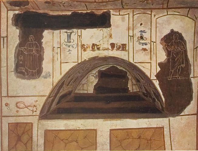 Фрески в катакомбах Домитиллы
