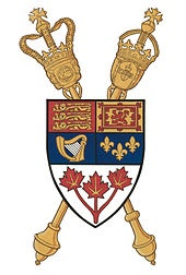 """""""Parlement du Canada"""" Parliament of Canada Coat of arms or logo"""