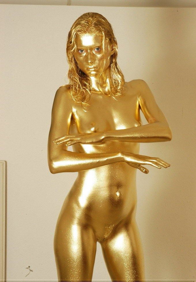 Gold naked woman girl