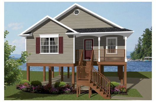 39 best waterfront house plans images on pinterest for Beach house elevation designs
