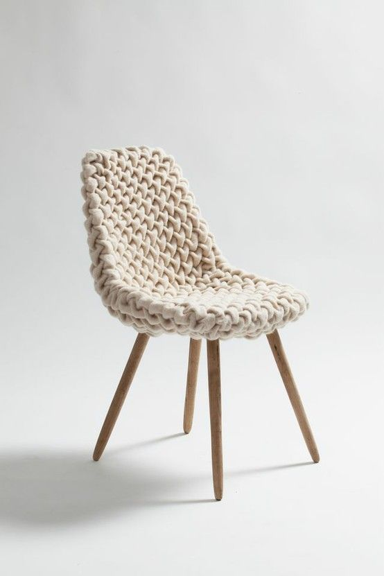 cozy chair hans sapperlot looks like a ball of yarn and knitting needles