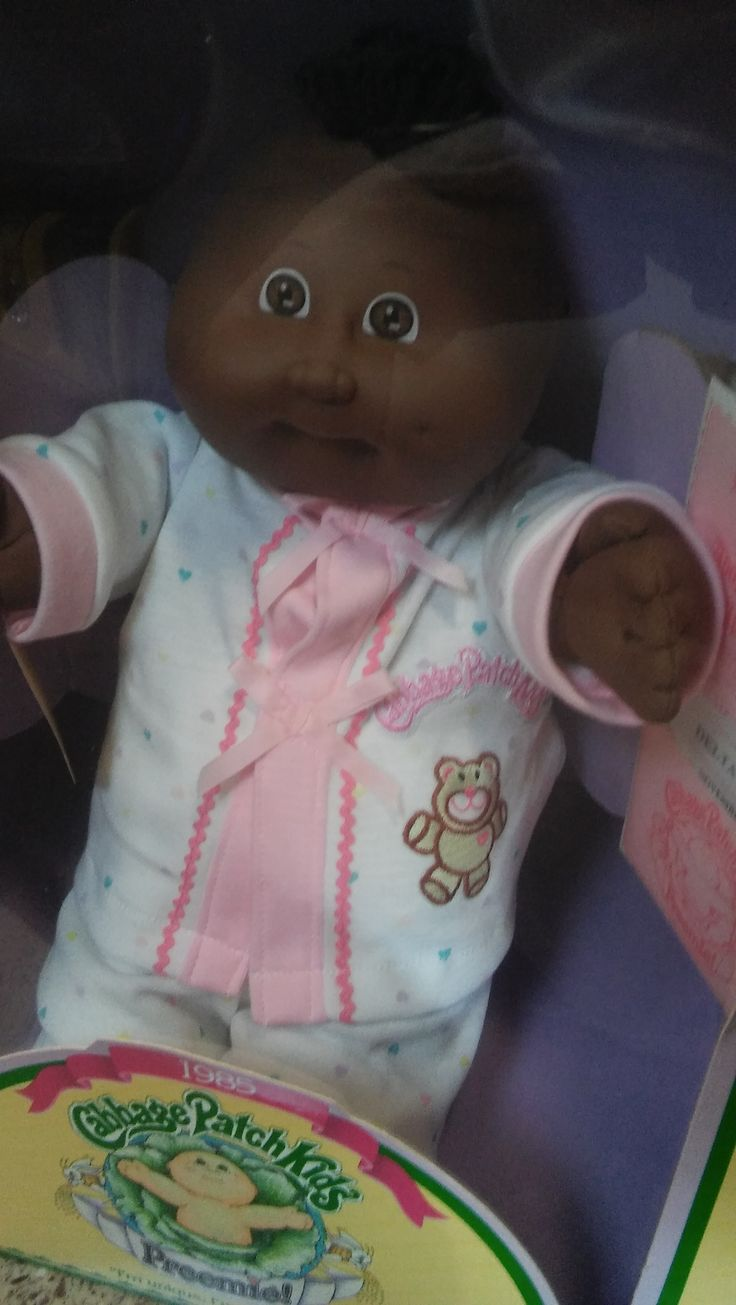 "1985 Cabbage Patch Kid, ""Preemie"". Her name is Delta Fiona."