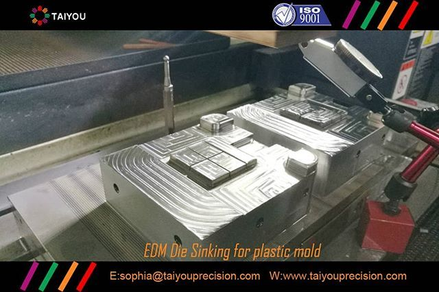 EDM die sinking for plastic molds  We do die and mold