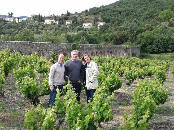 Ivan Oertle, Jeff Grier and Rebecca Constable at the L'Aqueduc. — in Saint-Paul-de-Fenouillet, France.