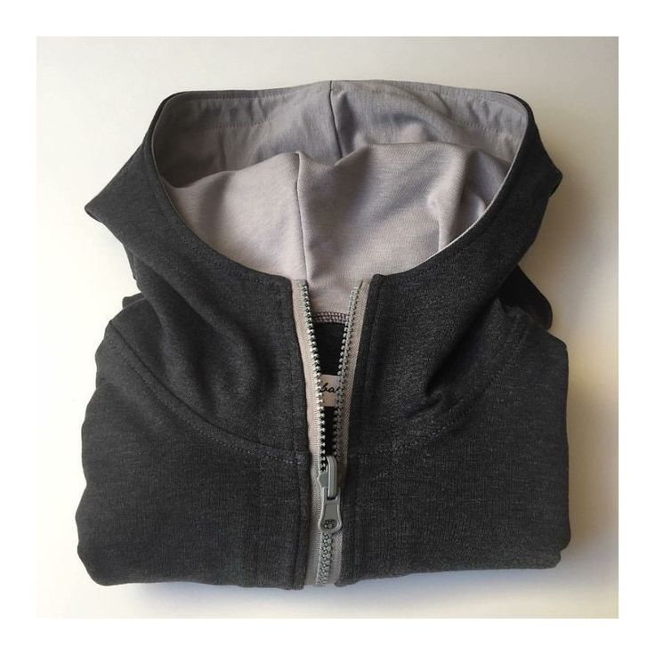 Zip Yourself ciemny melanż - bluza z kapturem zapinana na zamek. Krój fraka.