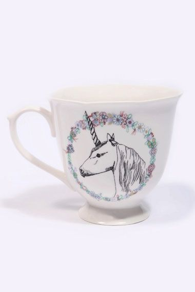 unicorn tea cup...I need this.