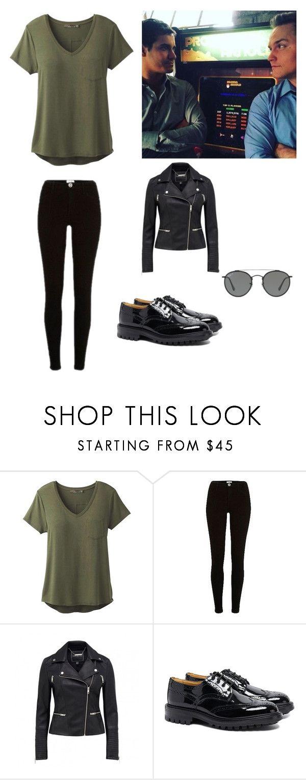 """""""Tournage de Scorpion"""" by anneso88 ❤ liked on Polyvore featuring prAna, River Island, Tricker's and Ray-Ban"""