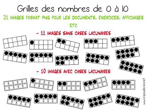 ateliers mathématiques: mes grilles des nombres - crapouilleries