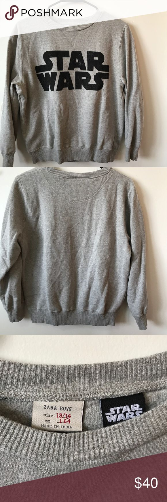 Zara Star Wars Sweatshirt Zara Star Wars limited edition sweatshirt. Soft interior, only worn once. Can fit Women's S-M. Kids size 13-14. Zara Tops Sweatshirts & Hoodies