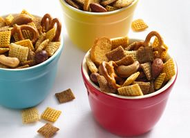 homemade chex mix. i bake it instead of microwave. the whole house smells delicious!