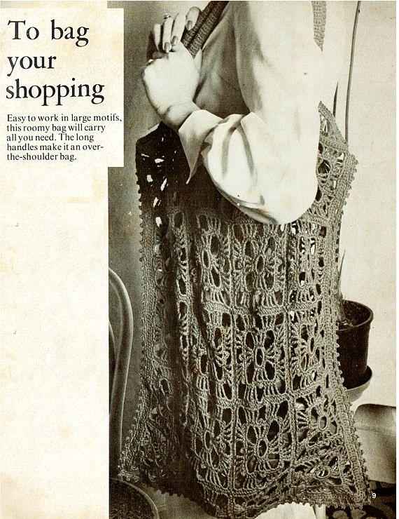 PDF Vintage 1970s Ladies Crochet Pattern Beach Granny Square