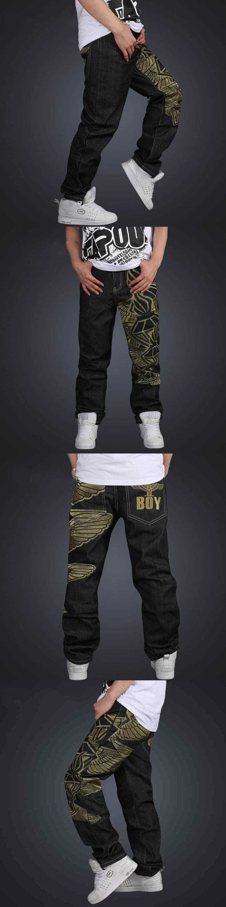 Hot Sale Jeans straight jeans hip-hop style hip-hop pants male jeans Free Shipping