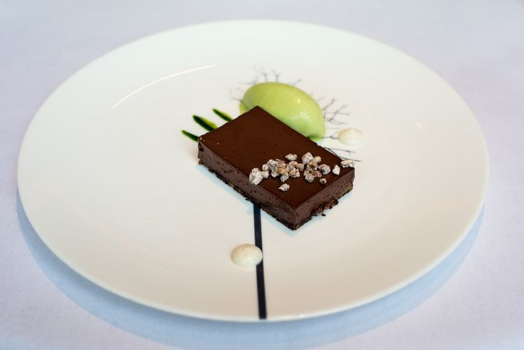 the ledbury mint chocolate dessert on dibbern black forest plate. Black Bedroom Furniture Sets. Home Design Ideas