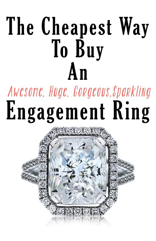 5 easy tips - all he'll ever need to know about how to get the biggest best engagement ring in the budget