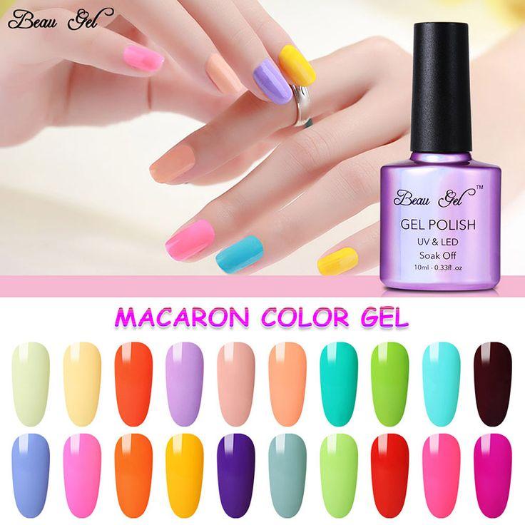 Beau Gel Permen Kuku Gel Polish Rendam Off UV Colorful Kuku kuku Warna Art Untuk Gel Nail Polish Logam Top Coat Disegel Gel