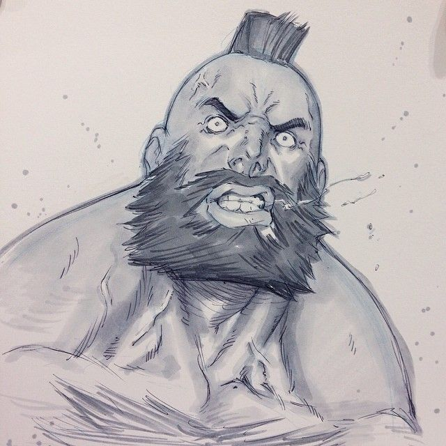 Street Fighter - Zangief by Alvin Lee ★ || CHARACTER DESIGN REFERENCES (pinterest.com/characterdesigh) • Do you love Character Design? Join the Character Design Challenge! (link: www.facebook.com/groups/CharacterDesignChallenge) Share your unique vision of a theme every month, promote your art, learn and make new friends in a community of over 12.000 artists who share the same passion! || ★