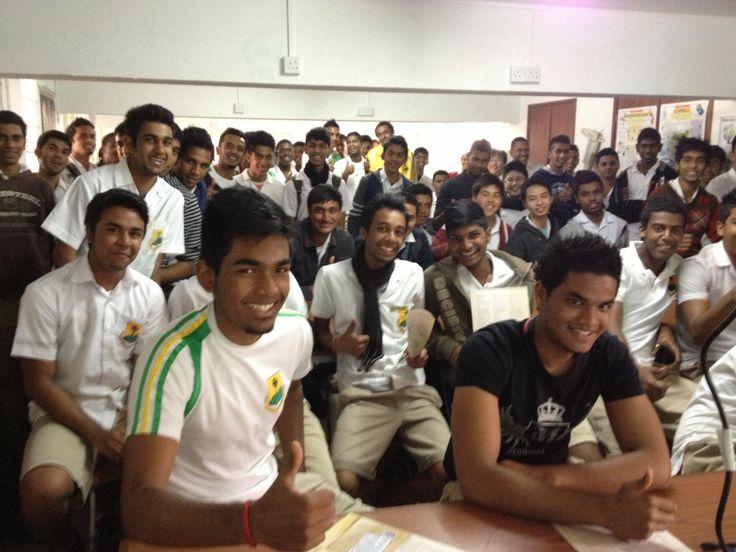 Murdoch University visit to St Josephs high school in Mauritius 28th August