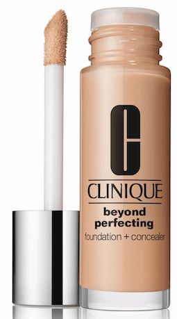 Clinique Beyond Perfecting Foundation + Concealer. I have been trying out 'ivory' and it's perfect for my skin!