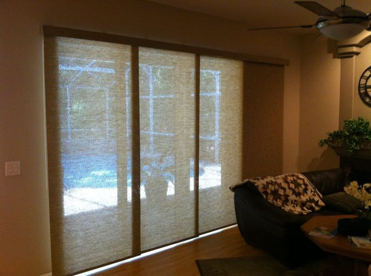Triple Sliding Glass Door Blinds