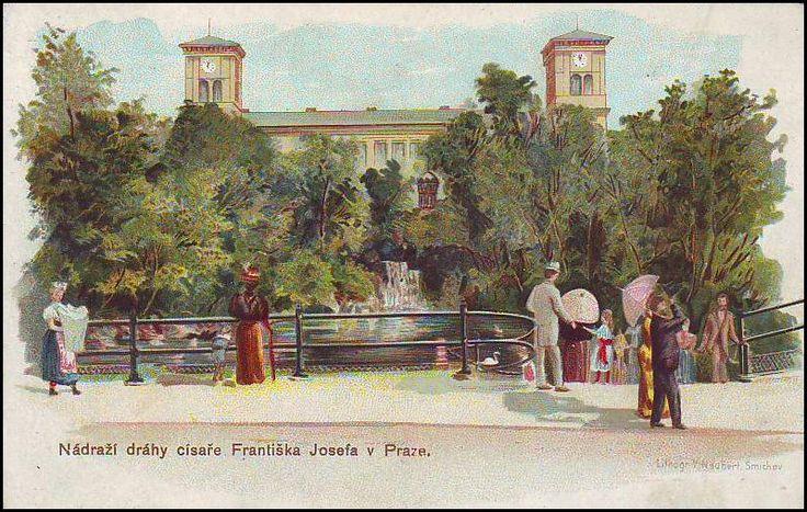 Nádraží Františka Jozefa, -po 40 letech přestavěno arch. Fantem -dnešní Hlavní (Wilsnovo) nádraží