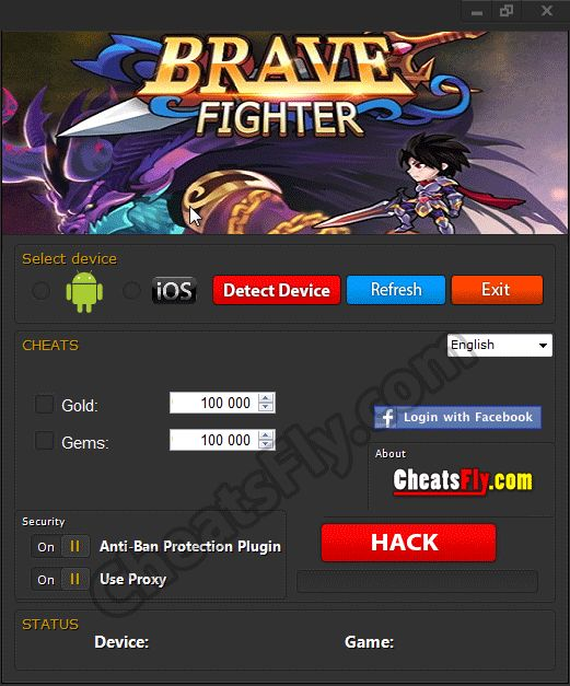Brave Fighter Cheats Hack Tool