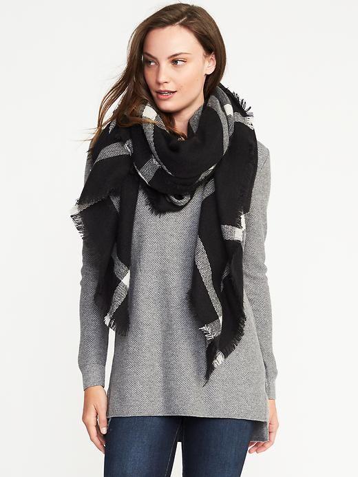 Flannel Blanket Scarf - OLD NAVY