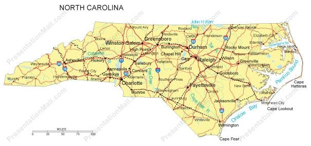 Image Result For Nc County Map With Roads Nc County Map North