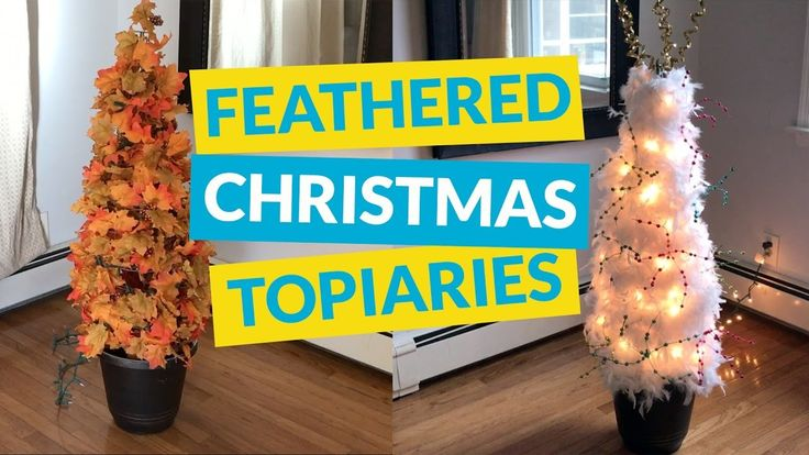Feathered Christmas Topiaries