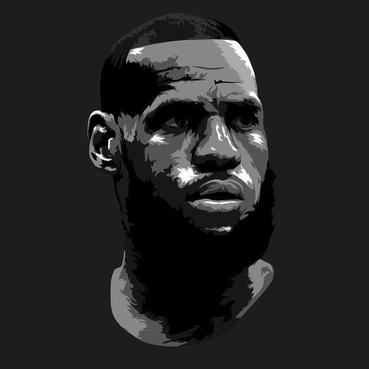 Lebron James Illustration #nba #nbaart #posterizes @posterizes @nba #basketball #marchmadness #cavs #cavaliers