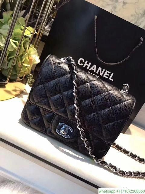4048e35f1b3e Chanel Rectangle Black Caviar And Lambskin Bag 20cm Mini #Chanelhandbags