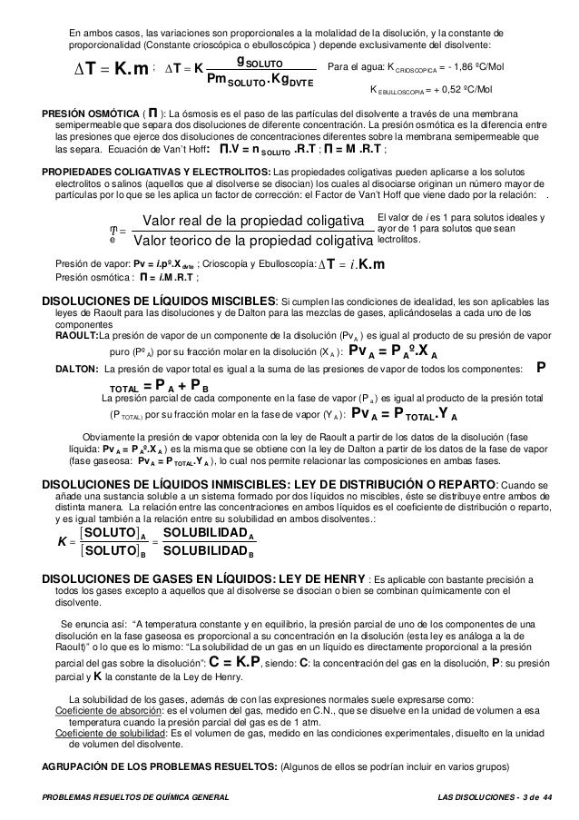 Disoluciones Resueltos 1 Molar Molecular Iguala