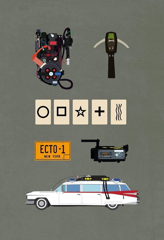 Ghostbusters 8x10 11x17 or 13x19 Movie Poster v2 by missingtime