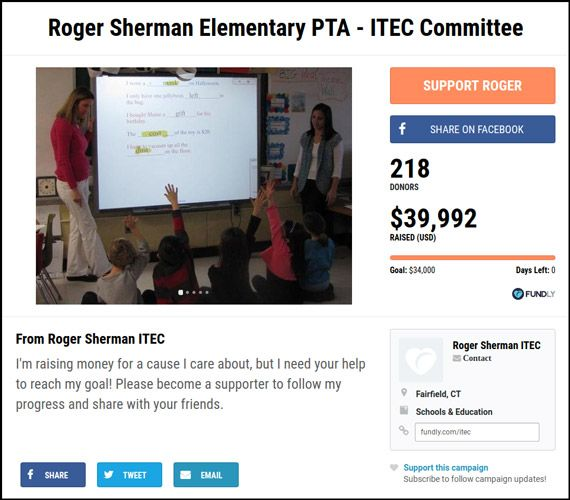 The Roger Sherman Elementary PTA is a great example of how you can fundraise to form committees.