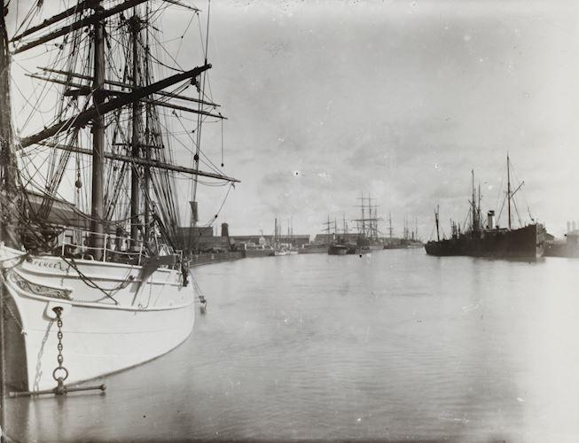 Photograph - Sailing Ships, Victoria Dock, Port Melbourne, Victoria, circa 1905