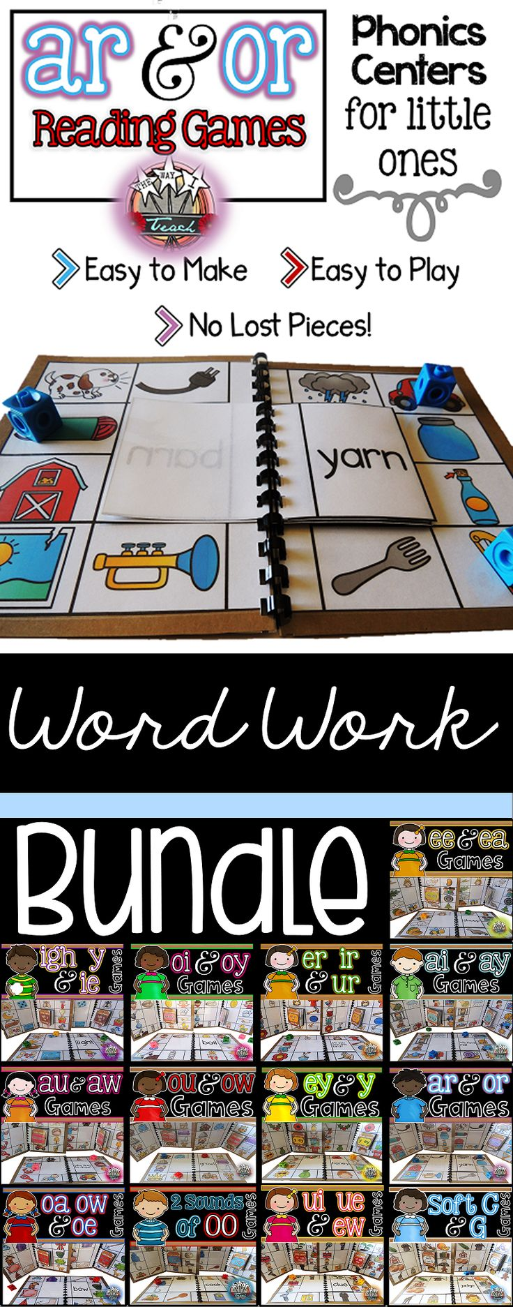 Phonics Games for Word Work 11 best