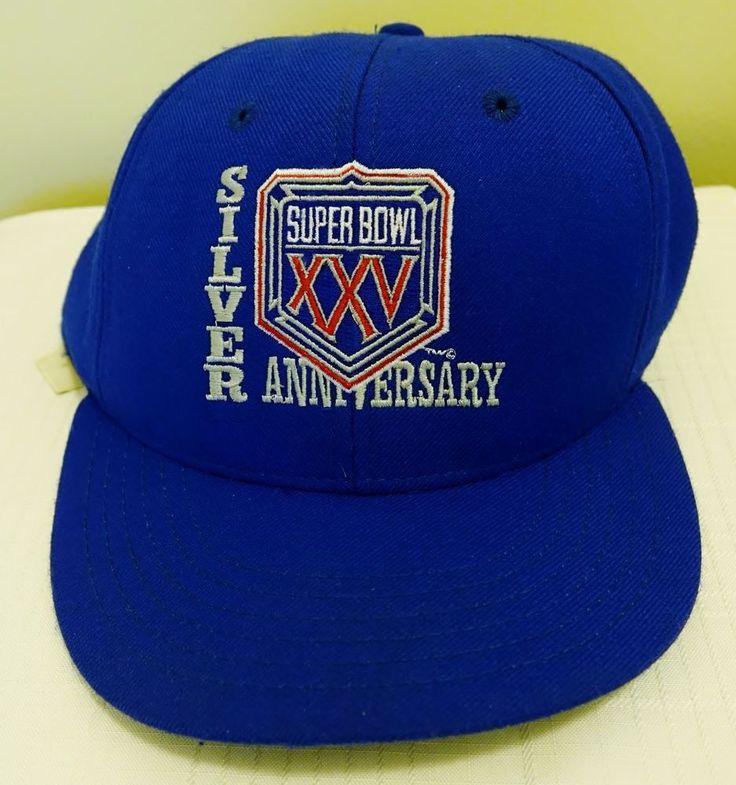 Vintage Super Bowl XXV Silver Anniversary snapback hat Bills Giants FreeShipping #BillsandGiants