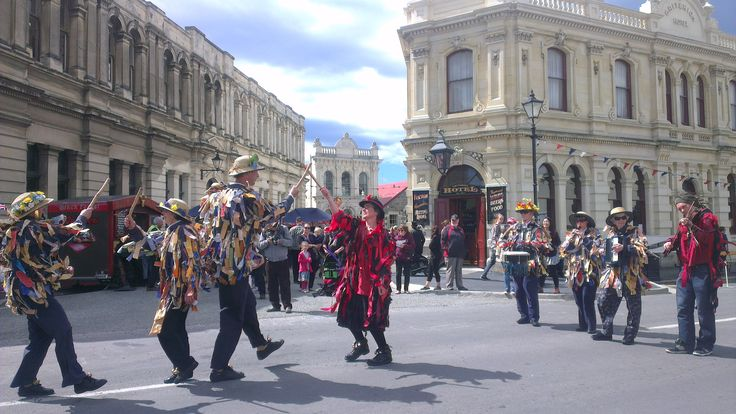 Morris Dancers at Victorian Fete, Oamaru Oamaru, New Zealand celebrates a bygone era every year with the Victorian Parade and Fete held in November.  Find out more on our blog: http://www.thebusstop.co.nz/blog/celebrating-oamarus-victorian-heritage