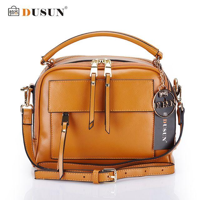 Dusun mulheres marca sacos do mensageiro genuíno bolsas de couro das mulheres de couro real casual bolsas crossbody sacos de zíper do saco das mulheres do vintage