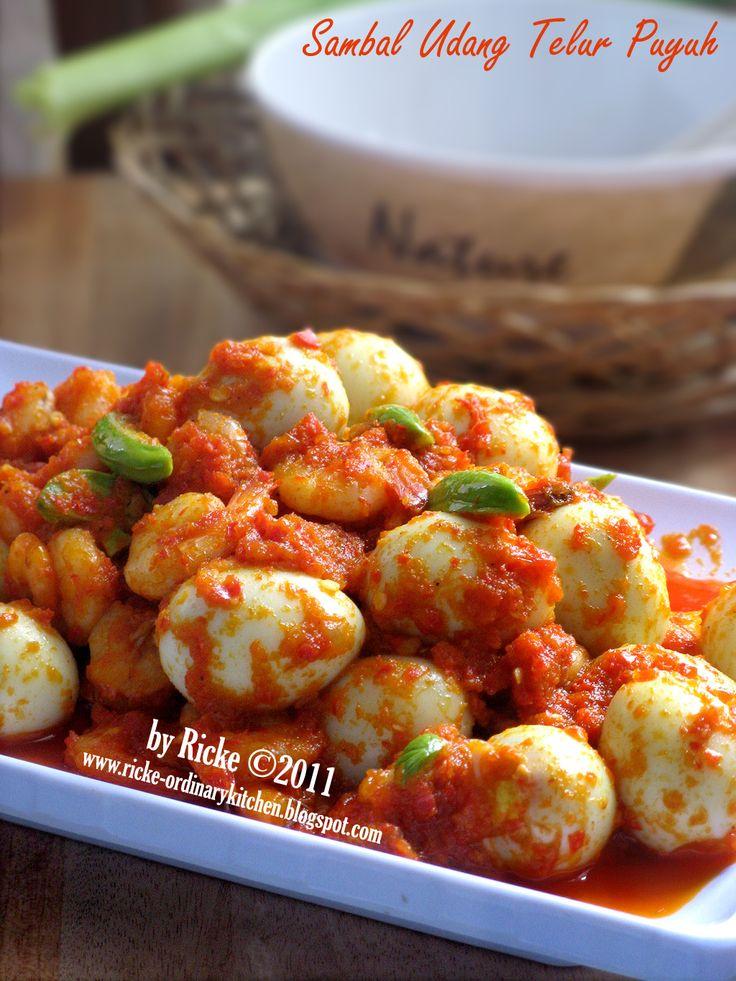 Just My Ordinary Kitchen...: SAMBAL UDANG TELUR PUYUH